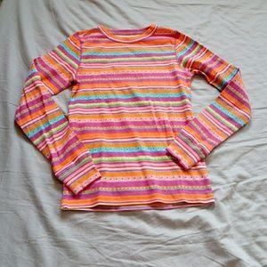 LL bean ls pajama top size 10